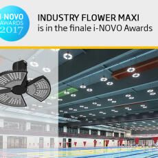We are a finalist of the i-NOVO Awards 2017 with the Industry FLOWER Maxi luminaire.