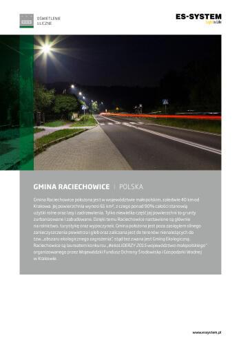 Oświetlenie drogowe - Raciechowice