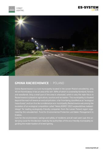 Street lighting - Raciechowice