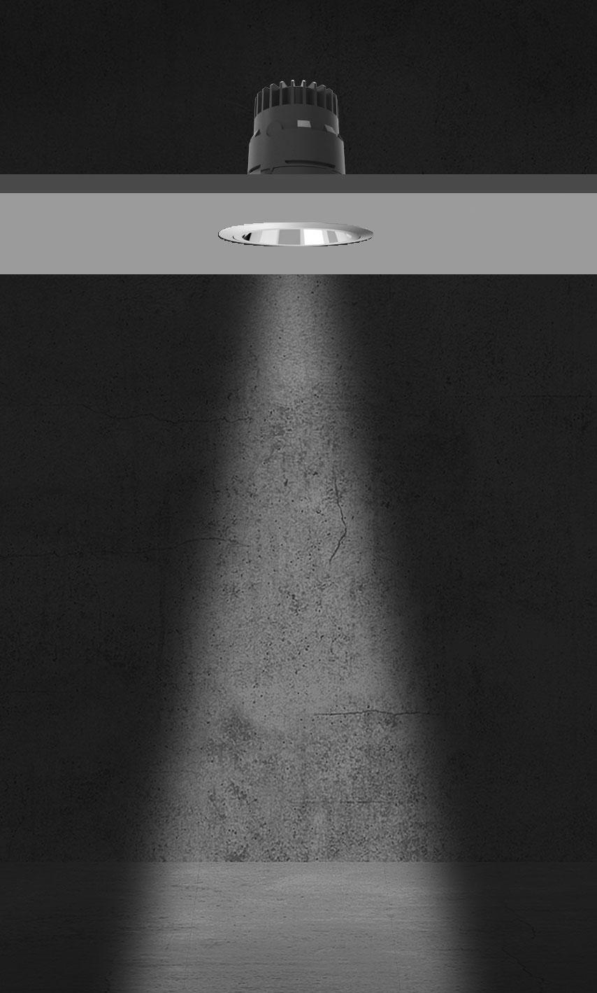 Rozsył światłości systemu Geco - 24 stopnie