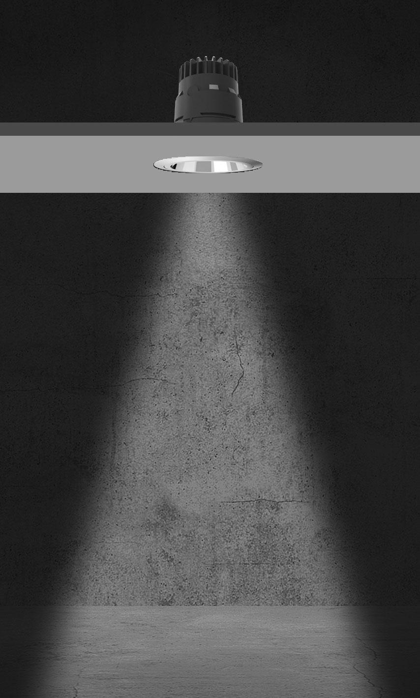 Rozsył światłości systemu Geco - 36 stopni