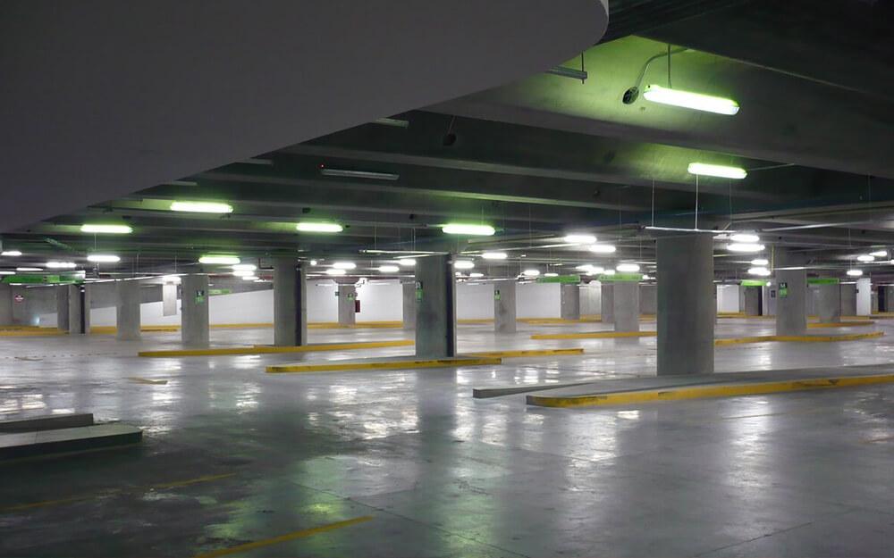 Iluminacje - parkingi podziemne