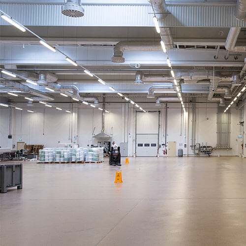 Intelligent Lighting Control - Industrial facilities